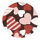 チョコレート 転写シート カラフルハート 3色 1枚【夏季冷蔵】 クーポン 手作りバレンタイン