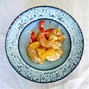 白流紋三島手リム鉢