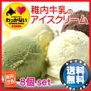【送料無料】稚内牛乳のアイスクリーム8個セット!稚内牛乳を使用したミルキーで自然風味豊かなあいすくり