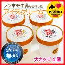 【送料無料】稚内牛乳のアイスクリームビッグカップ4個セット ...
