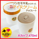 【大カップ】稚内牛乳の牧場アイスクリーム〜チョコレート 47...