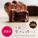 訳あり 王冠生チョコ250g お試しバレンタインチョコレート...