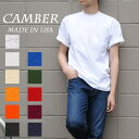 CAMBER MAX WEIGHT 301 S/S TEE 8oz キャンバー マックスウェイト S/S Tシャツ 8オンス 無地 白T MADE IN USA メンズ レディース ユニ..
