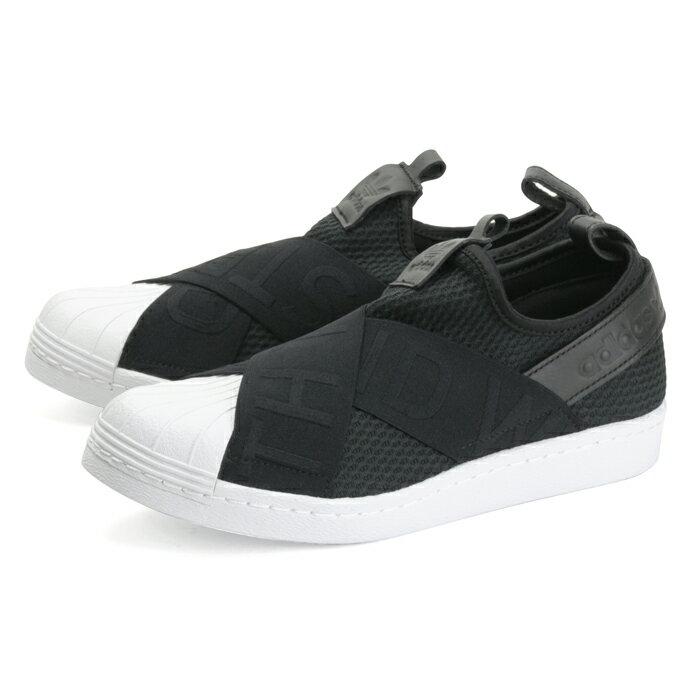 送料無料 アディダス オリジナルス スーパースター スリッポン レディース メンズ 黒 ブラック スニーカー adidas Originals SUPER STAR SLIP ON BLACK CQ2382 靴 大きいサイズ 紐なし
