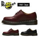 送料無料 ドクターマーチン Dr.Martens 3ホール 3アイレット ギブソンシューズ イエローステッチ メンズ レディース ブーツ シューズ レディースサイズ 黒 ブラック 赤 レッド スムースレザー ローカット GIBSON CORE 1461 3 EYELET SHOE 靴 0116