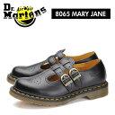 ショッピングドクターマーチン 送料無料 ドクターマーチン Dr.Martens コア メリージェーン ブラック ダブルストラップ ブーツ ローカット 靴 女性用 レディース Tストラップ CORE 8065 MARYJANE BLACK 12916001 0116