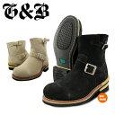 ショッピングエンジニア 送料無料 ゴッド&ブレス エンジニアブーツ ブーツ ショート 本革 レザー スウェード 黒 ベージュ サンド ブラック 大きいサイズ GOD&BLESS G&B GB9808B SUEDE 靴