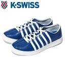 ケースイス クラシック 66 メンズ ブルー ネイビー 青 スニーカー レザー テニスシューズ コート Kスイス K-SWISS Classic 66 BLUE 36037426 送料無料