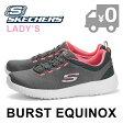 スケッチャーズ バースト エキノクス レディース トレーニング ウォーキング スリッポン チャコール グレー ピンク SKECHERS BURST EQUINOX 送料無料