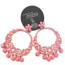 スペイン製ピアス・ベビーピンク色 (rosa chicle) Peira社製 ネコポス送料無料
