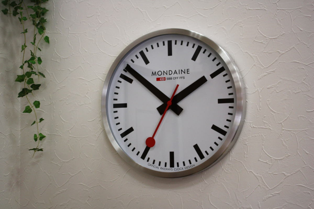 Katsuboya rakuten global market impact and transparent large diameter 40 cm if switzerland - Mondaine wall clocks ...