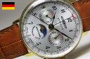 ドイツのZEPPELIN【ツェッペリン】Hindenburg【ヒンデンブルク】ムーンフェイズ・クォーツ腕時計/週表示ポインター搭載