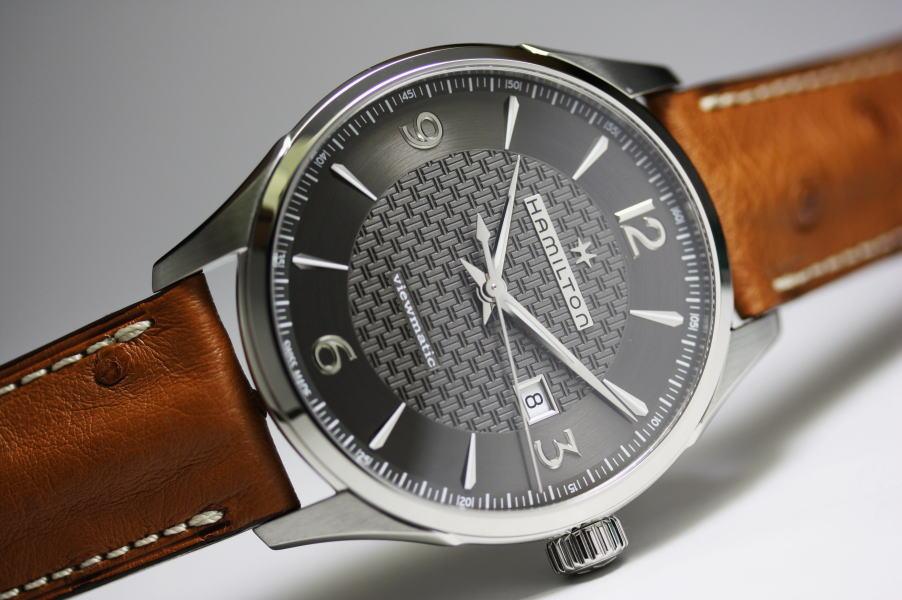 Hamilton【ハミルトン】Jazzmaster Viewmaticジャズマスター・ビューマチック自動巻き腕時計H32755851/正規代理店商品 オーストリッチ・ストラップを採用!