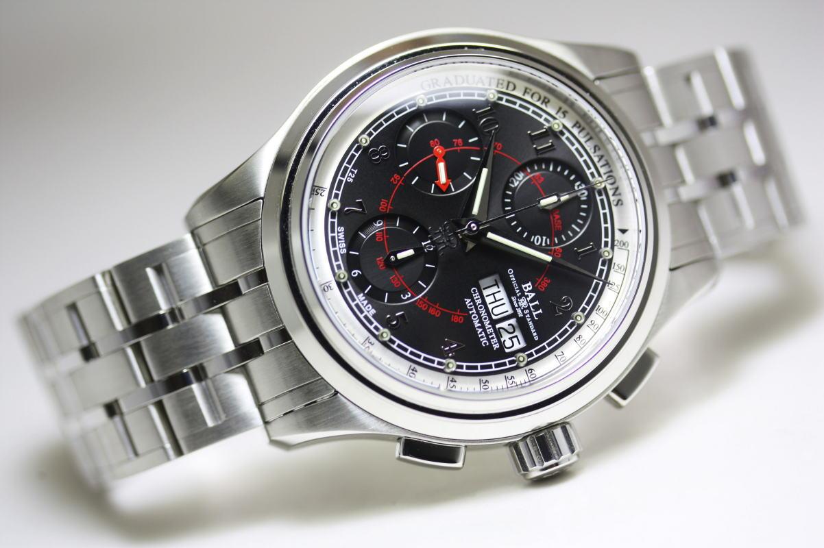 BALL WATCHボール・ウォッチ パルスメーターCOSCクロノメーター自動巻き腕時計