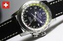 GLYCINE【グリシン】Airman【エアマン】World Traveler【ワールドトラベラー】GMT搭載クォーツ腕時計/ミリタリーウォッチ/腕時計/アメリカ空軍パイロット/グライシン