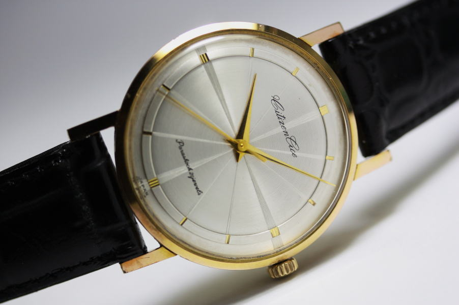 【】【アンティーク】1960年代のCITIZEN【シチズン】ACE【エース】手巻きパラショック腕時計 シンプルで薄型の手巻き腕時計