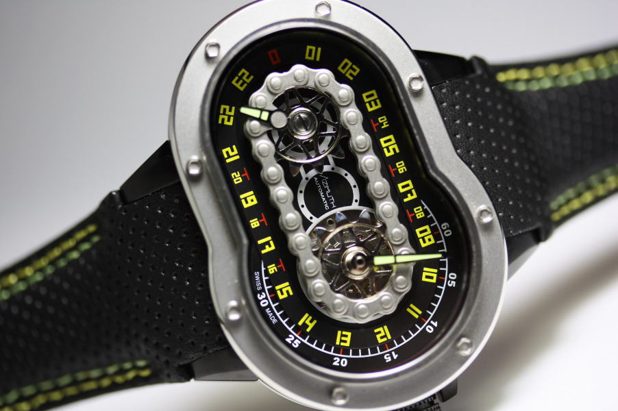 AZIMUTH【アジムート】SP-1 Crazy Rider【クレジーライダー】24時間表示自動巻き腕時計/正規代理店商品