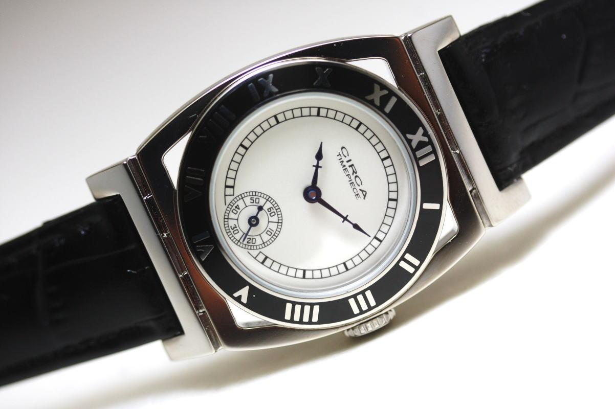 1920年代の復刻!CIRCA【サーカ】ENAMEL MODELエナメルベゼル採用クォーツ腕時計/アメリカンウォッチ・デザイン/新品