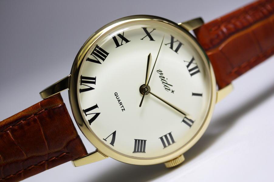 VIDA+【ヴィーダプラス】Voyage【ボヤージュ】ローマン腕時計/クラシック・デザイン/男女兼用サイズ ケース直径約36ミリのボーイズサイズ!【おしゃれ 腕時計 レディース 安い】