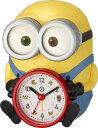 ミニオンの目覚まし時計 ボブ/プレゼントにオススメ/リズム時計/メーカー希望小売価格7,700円/送料無料/クリスマス/置き時計