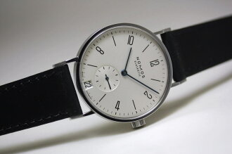 NOMOSTANGENTE date rolling by hand watch / Bauhaus design / glass hut made in Germany