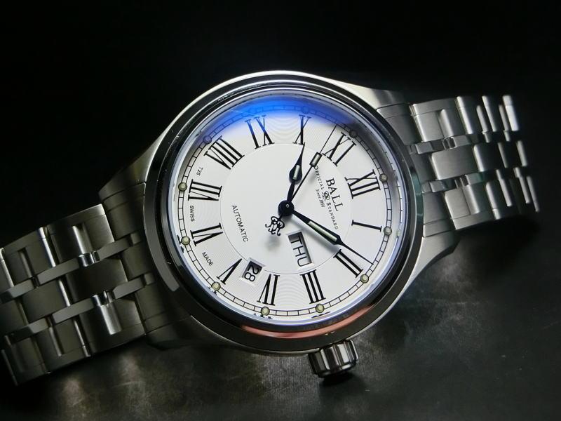 BALL WATCH【ボール・ウォッチ】トレインマスターRomanローマン自動巻き腕時計NM1058D-S4J-WH