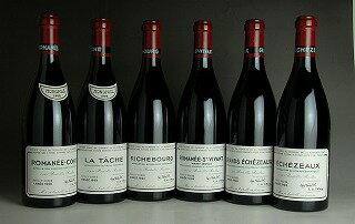 1998 Domaine de la Romanee Conti (DRC) - Mini Assortment (RC/LT/R/RS/GE/E total 6btl)