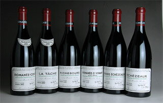 2003 Domaine de la Romanee Conti (DRC) - DRC Mini Assortment (RC/LT/R/RS/GE/E total 6btl)
