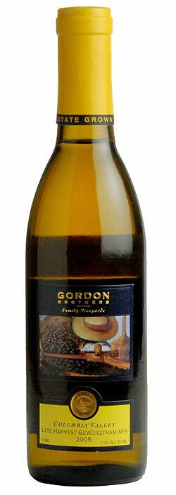 [2005] ゲヴェルツトラミネール レートハーヴェスト Gordon brothers Gewurztraminer Late Harvest-Estate 375ml