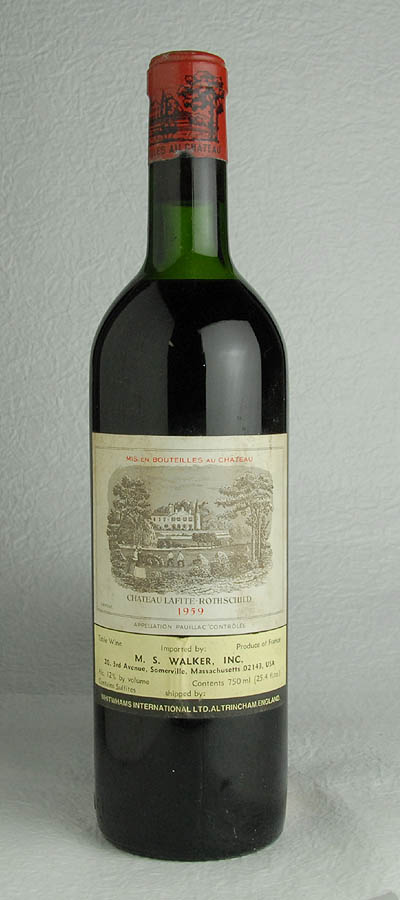 [1959] 750 ml of chateau Lafite Rohto silt full bottle Ch.Lafite Rothschild 1bt