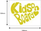 告知孩子乘坐《写评论邮件投递》车的!即使时尚条款!kids的部分免费也变更可能!Kids on board(kids in car) re[Kids on board(kids in car) レビューを書いてメール便  車 ステッカー カッティング]