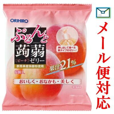 ぷるんと蒟蒻ゼリーパウチ ピーチ 120g(20g×6個)
