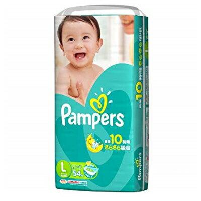 P&G パンパース さらさらコットンケア(テープタイプ) スーパージャンボ Lサイズ 54枚入