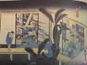 [ジオラマ完成品]広重 東海道五十三次 37 赤坂 (愛知県音羽町) 保永堂版 ケース付き ミニ18サイズ 浮世絵 ジオラマ
