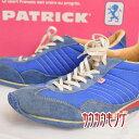 【中古】PATRICK パトリック スニーカー SULLY シュリー サイズ38(24cm) ブルー