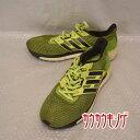 【中古】 アディダス /adidas エスノバ グライド ブースト 4 蛍光 イエロー サイズ30.0cm ランニングシューズ BB3464 ジョギング