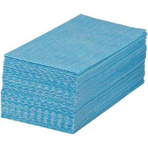 カウネット オリジナルキッチンクロス ブルー 50枚入×4