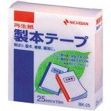ニチバン 再生紙製本テープ25mm×10mパステル桃【HLSDU】