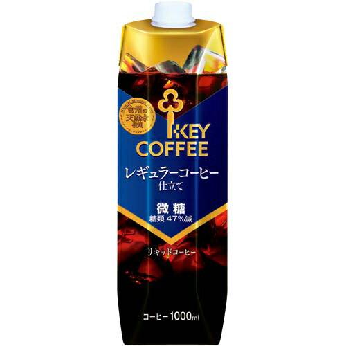 キーコーヒー 天然水アイスコーヒー 微糖 1000ml 12本【1two】...:kaumall:10190090