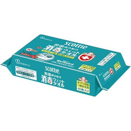 日本製紙クレシア スコッティ消毒ウェットボックス 40枚つめかえ