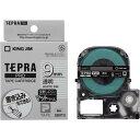 キングジム テプラ PROテープ 透明つや消し 9mm 白文字