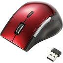 エレコム 無線5ボタンブルーLEDマウス レッド