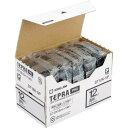 キングジム テプラ PROテープ エコ 透明12mm黒文字×5