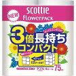 日本製紙クレシア スコッティフラワーパック W75m 4ロール×4P