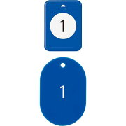 オープン工業 クロークチケット 1−20 青