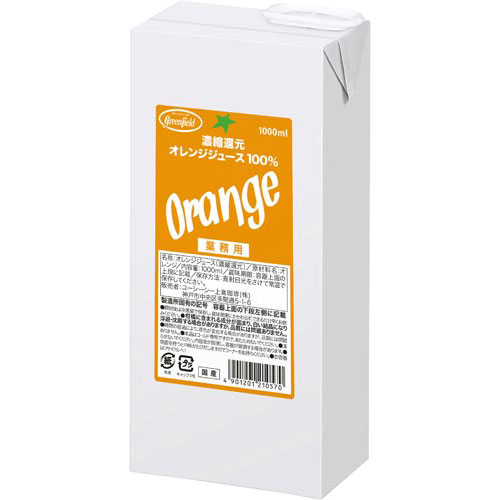 UCC濃縮還元オレンジジュース100%1L6本