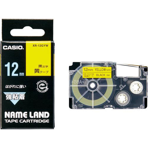 カシオ ネームランド 強粘着黄色テープ 12mm...の商品画像