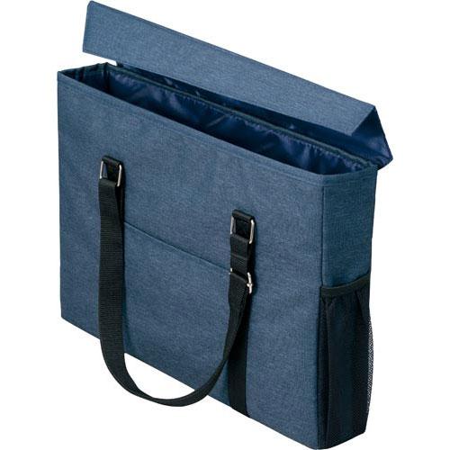 「カウコレ」プレミアム 外出にも使えるミーティングバッグ スリム 紺×紺