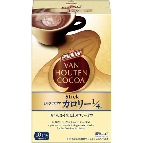 片岡物産 バンホーテン ミルクココア カロリー1/4 10袋