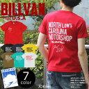 送料無料 BILLVAN NORTH CAROLINA へヴィーウェイトTシャツ COTTON USA 0323 Tシャツ アメカジ 半袖 米綿 プリント クルーネック メンズ レディース